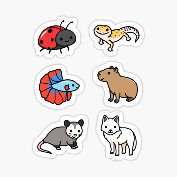 Cute Animal Sticker Pack 10 Sticker