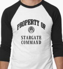 Property of Stargate Command Athletic Wear Black ink Men's Baseball ¾ T-Shirt
