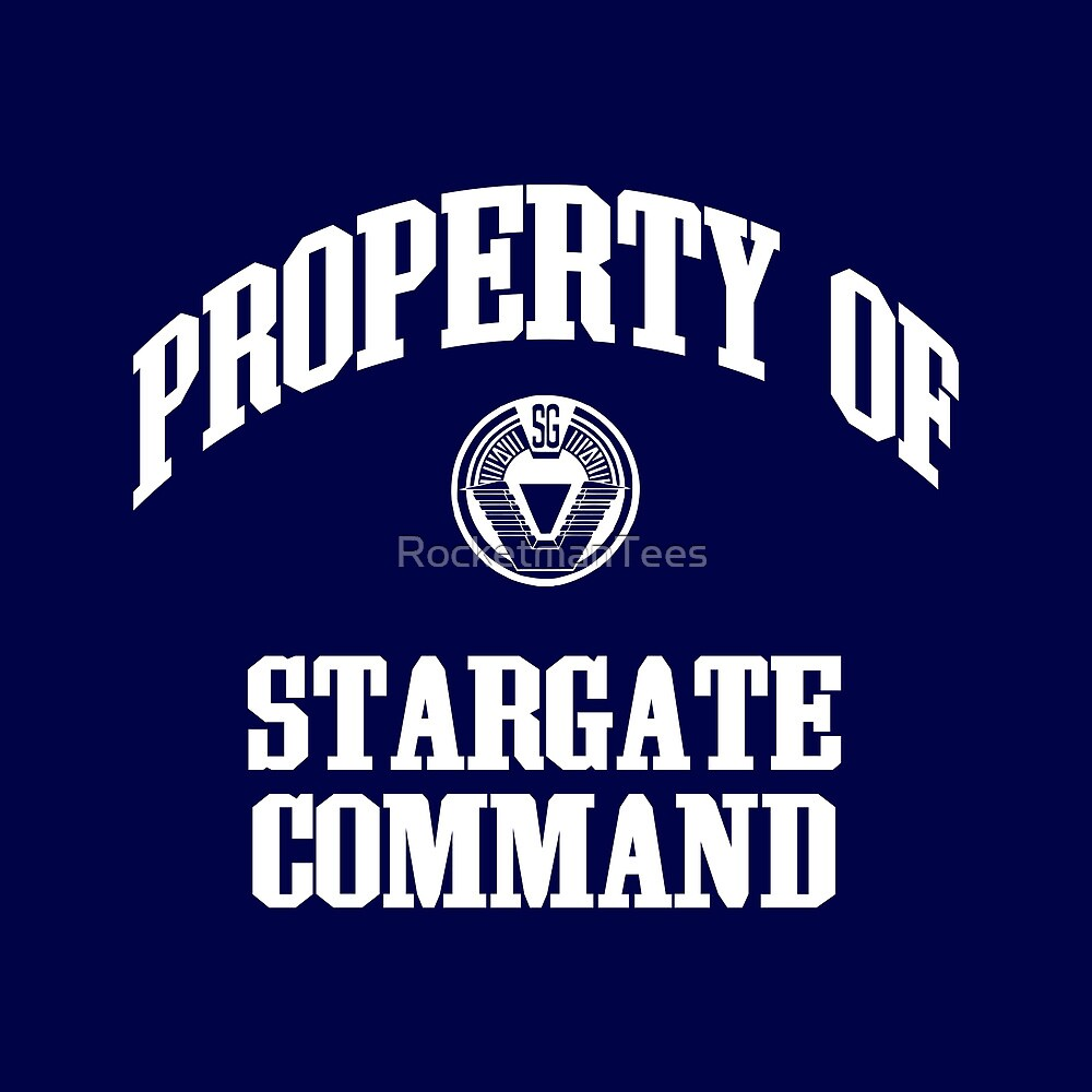 Property of Stargate Command Athletic Wear White ink by RocketmanTees