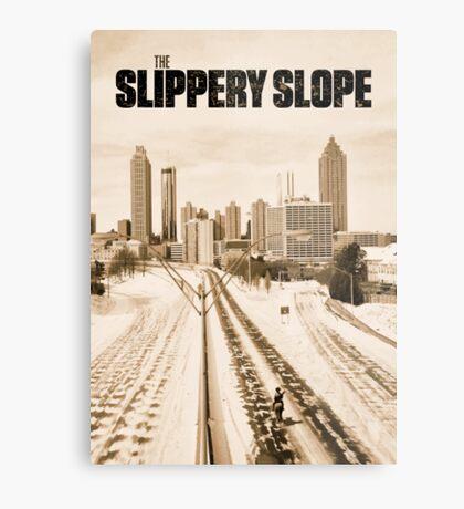 Atlanta Icepocalypse - PAX - Slippery Slope Metal Print