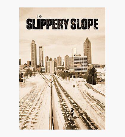 Atlanta Icepocalypse - PAX - Slippery Slope Photographic Print