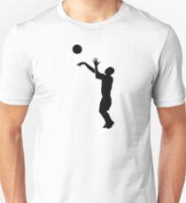 Basketball-Spieler Slim Fit T-Shirt