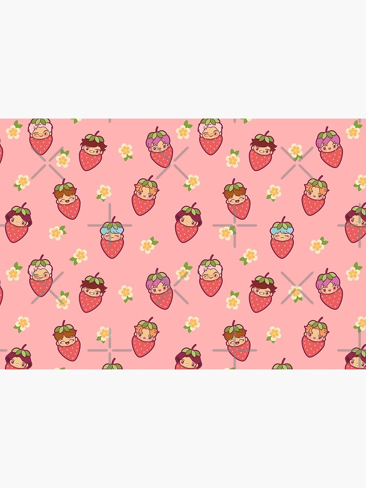 BTS Strawberry Patch PINK ~Masks~   by MikaBees