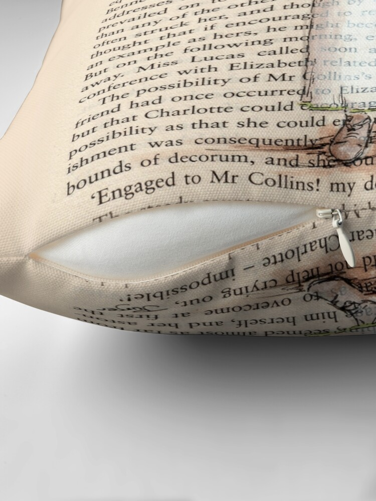 Alternate view of Pride and Prejudice - Elizabeth Bennet in White. Throw Pillow