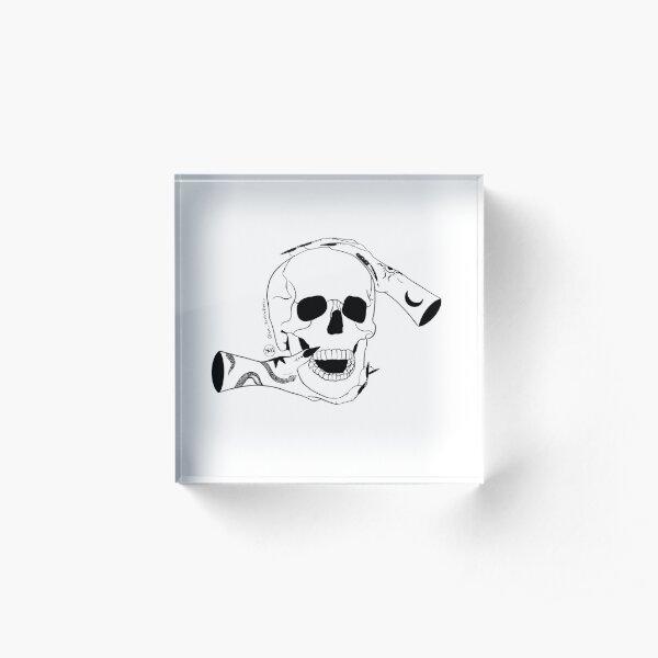 Skull Acrylic Block