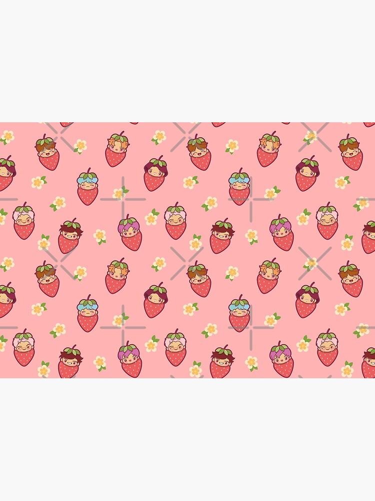 BTS Strawberry Patch PINK ~Journals & Notebooks~   by MikaBees