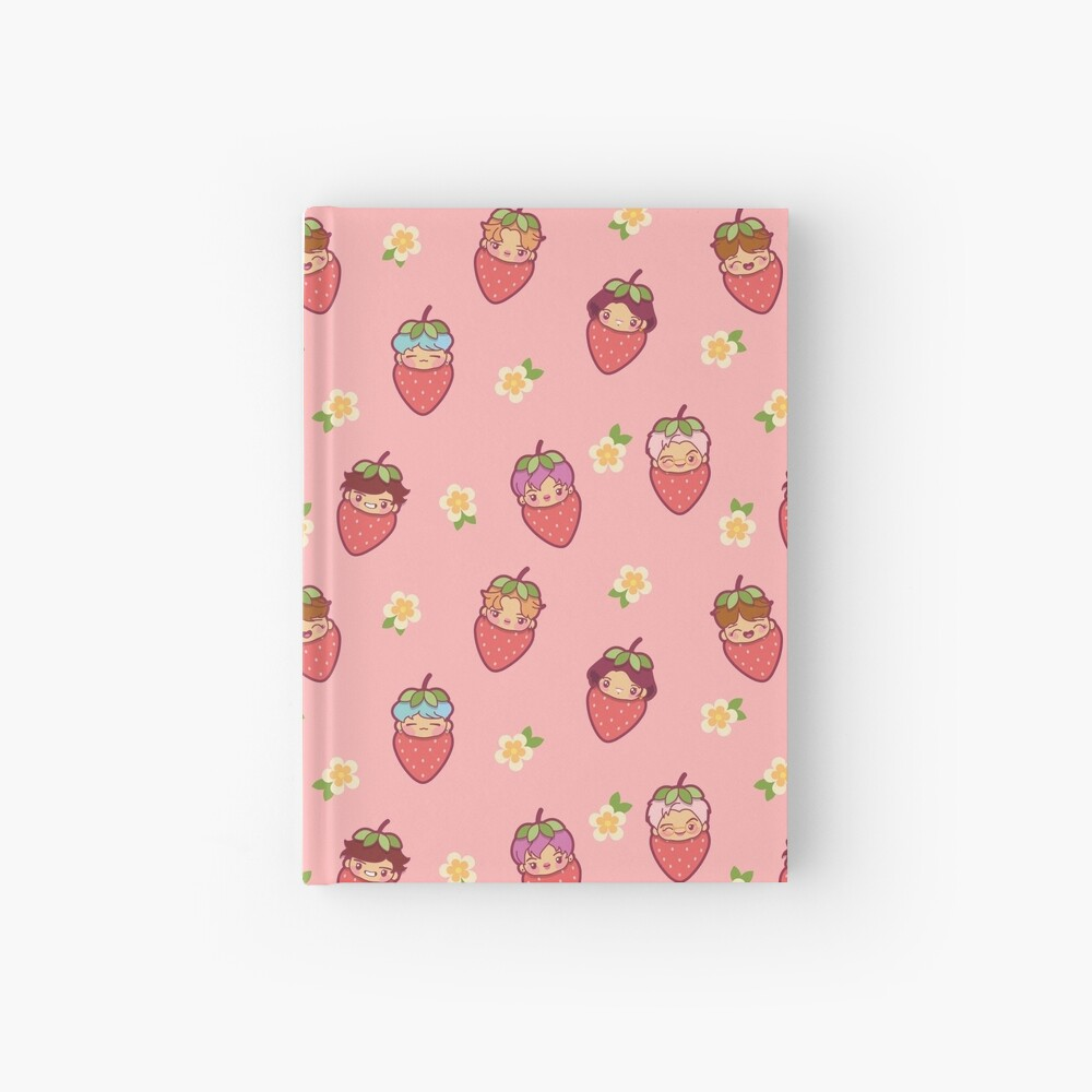BTS Strawberry Patch PINK ~Journals & Notebooks~   Hardcover Journal