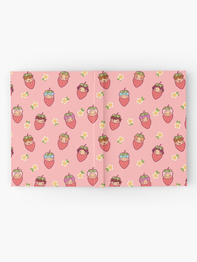 Alternate view of BTS Strawberry Patch PINK ~Journals & Notebooks~   Hardcover Journal