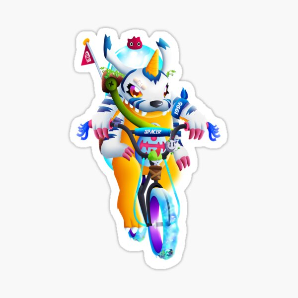 The Racing Monster Sticker