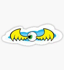 Angry Flying Eye - Yellow Sticker