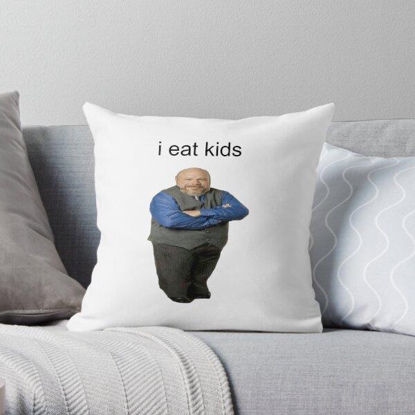 bertram eats kids Throw Pillow