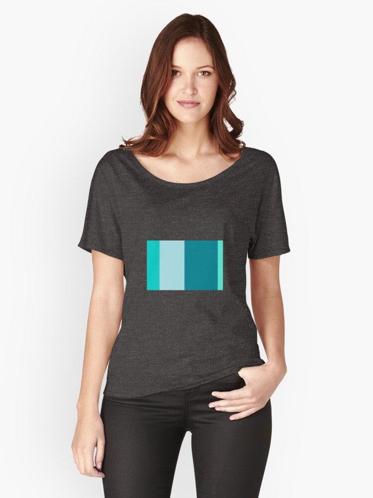 Minimalist Retro Pattern Women's Relaxed Fit T-Shirt Front
