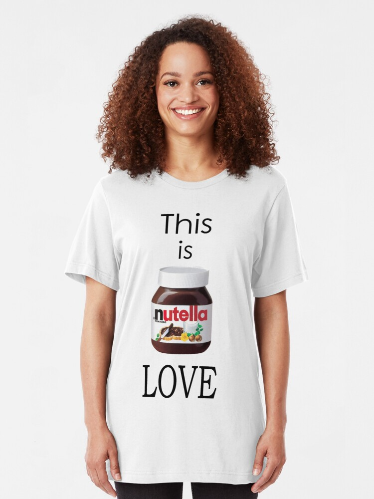you = happiness t-shirt fitted short sleeve womens you me nutella