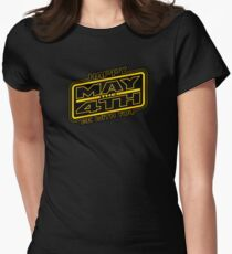 Happy May the 4th V2 Womens Fitted T-Shirt