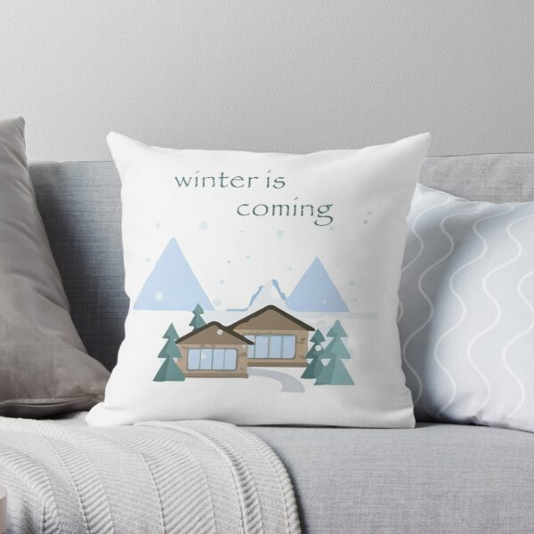 Winter Is Coming T-Shirts Throw Pillow