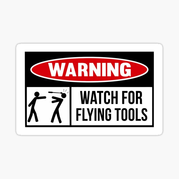 Flying tools Sticker