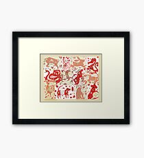 Chinese Astrology Animals Collage Framed Print