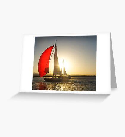 Red Sail Greeting Card