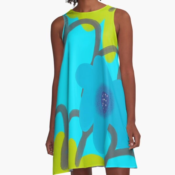 Big Blooms  A-Line Dress