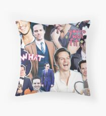 andrew scott collage Throw Pillow