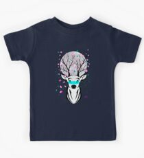 Roots To Grow and Wings To Fly (Cherry Blossom Deer) Kids Tee