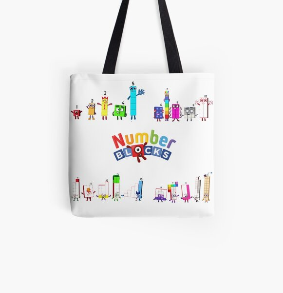 Number blocks numbers 1 to 20 All Over Print Tote Bag