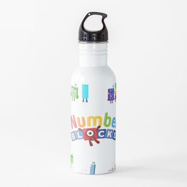 Number blocks numbers 1 to 20 Water Bottle