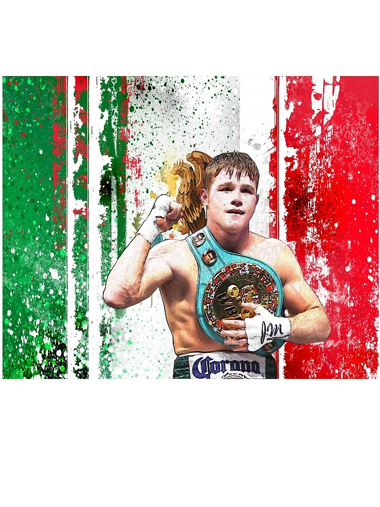 Saul Canelo Alvarez Boxing Mexico flag by RighteousOnix
