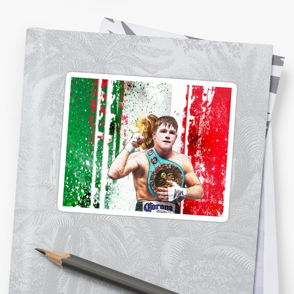 saul canelo alvarez boxing mexico flag