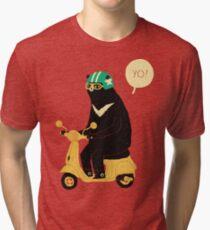 scooter bear Tri-blend T-Shirt