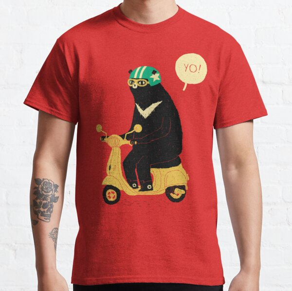 scooter bear Camiseta clásica