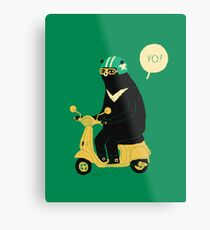 scooter bear Metal Print