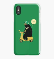 scooter bear iPhone Case