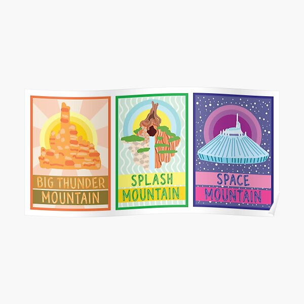 Trio d'affiches Ride Mountains Poster