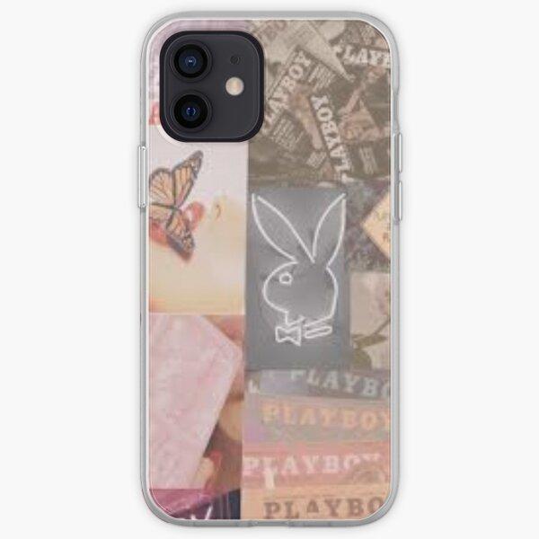 Playboy logo wallpaper iPhone Soft Case