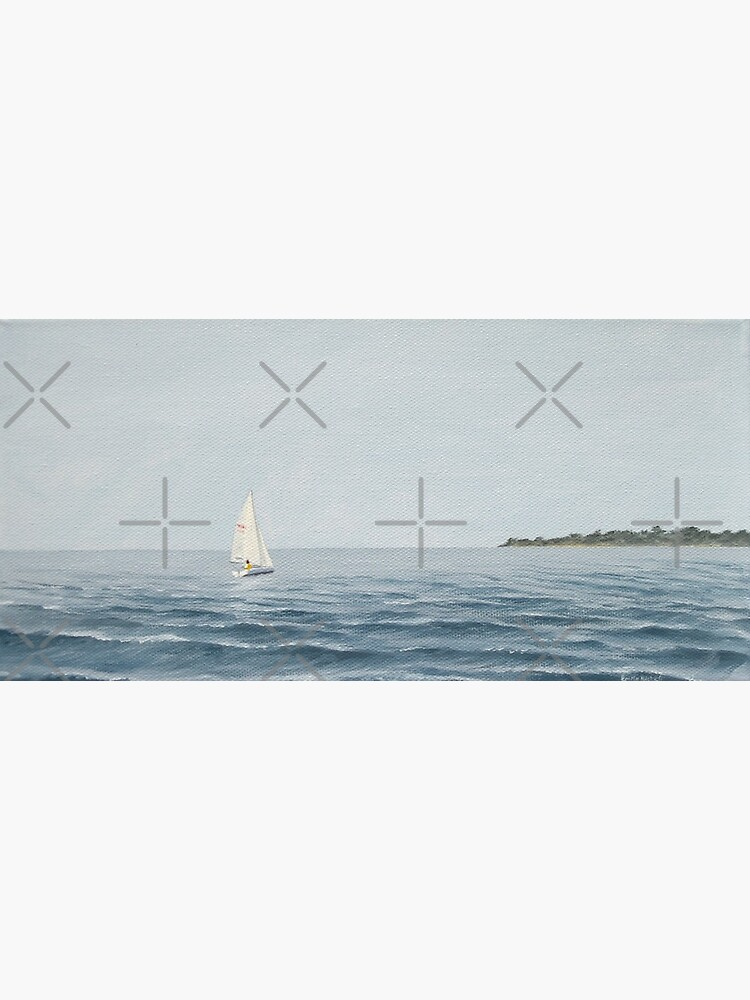 Sailboat headed for shore - painting by EmilyBickell