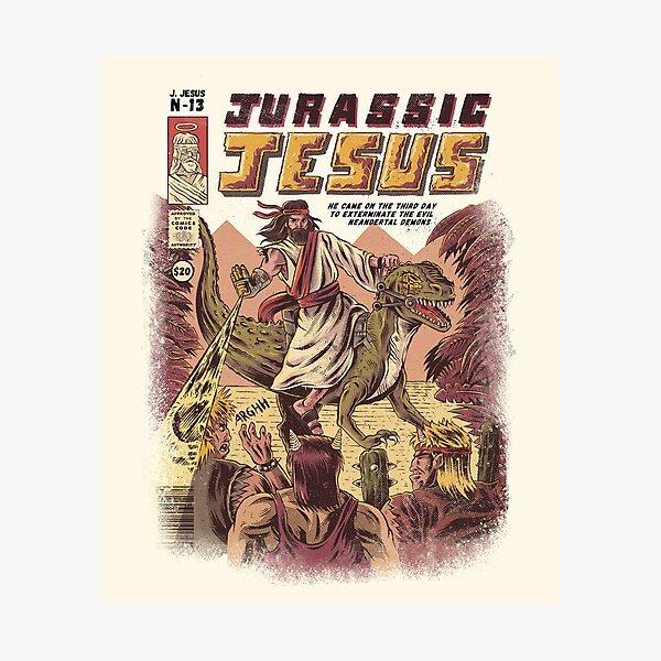 JURASSIC JESUS Photographic Print