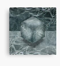 Aluminum Cube Natural Canvas Print