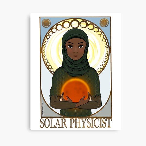 Solar Physicist (SciArt Nouveau) Canvas Print