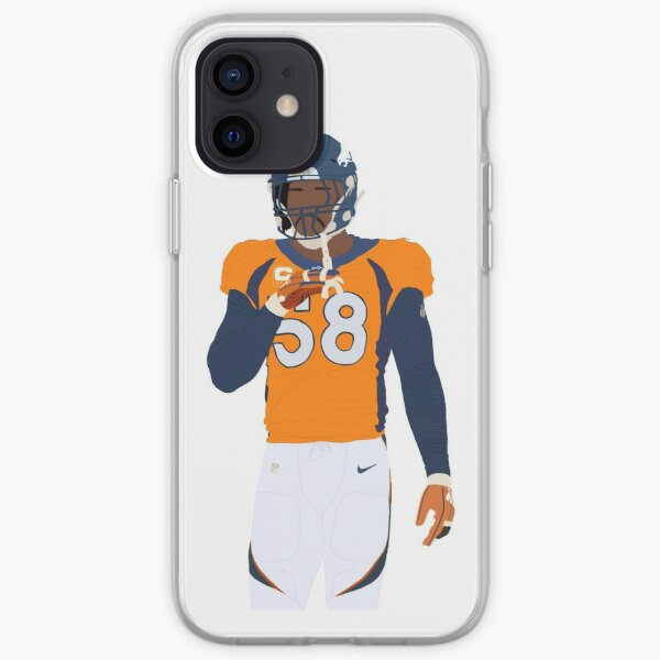 Von Miller Denver Broncos Art iPhone Soft Case