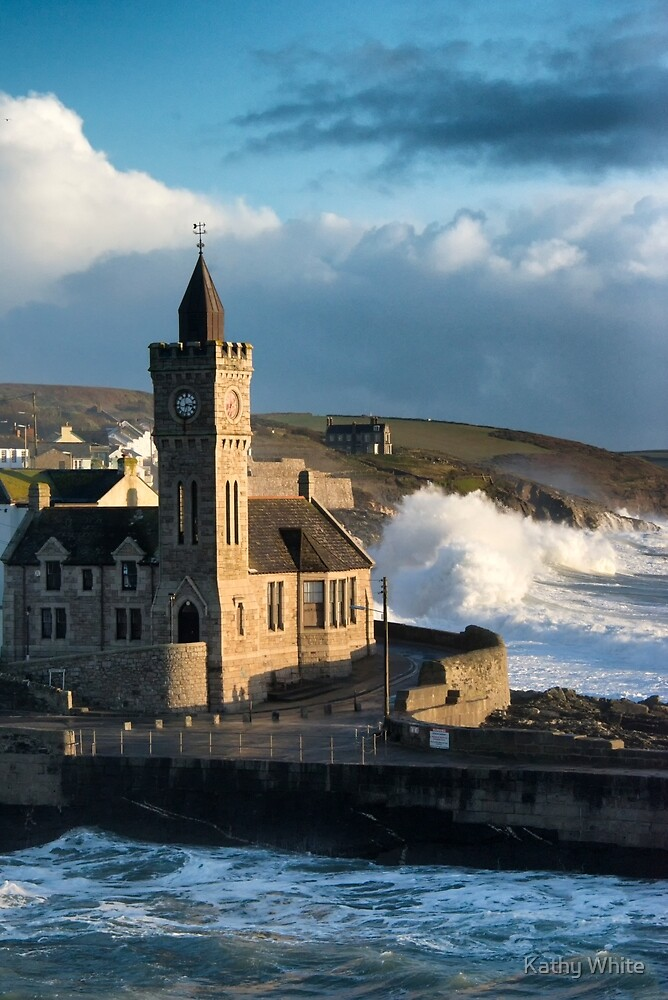 Porthleven Clock Tower in a storm  by kathleenjean