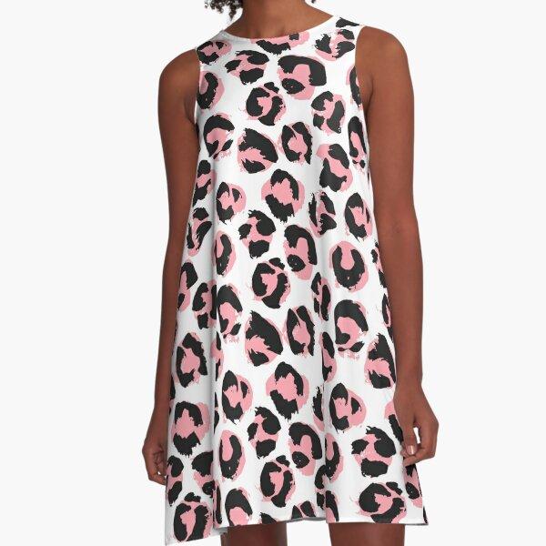 Pink leopard A-Line Dress