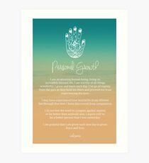 Affirmation - Personal Growth Art Print