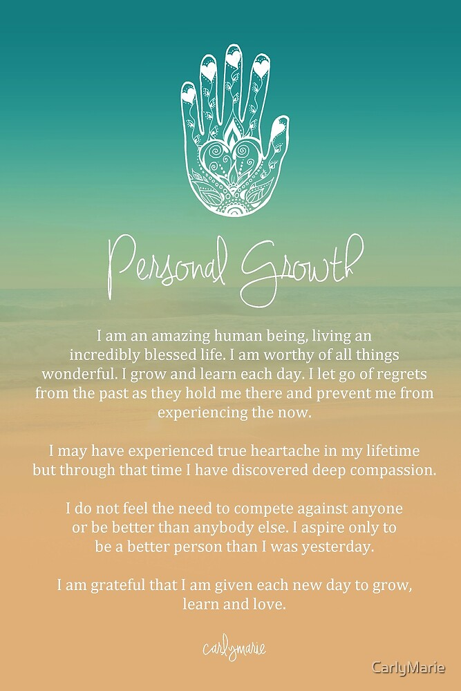 """Affirmation - Personal Growth"" by CarlyMarie 