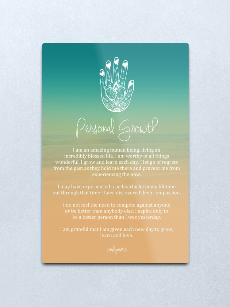 Alternate view of Affirmation - Personal Growth Metal Print