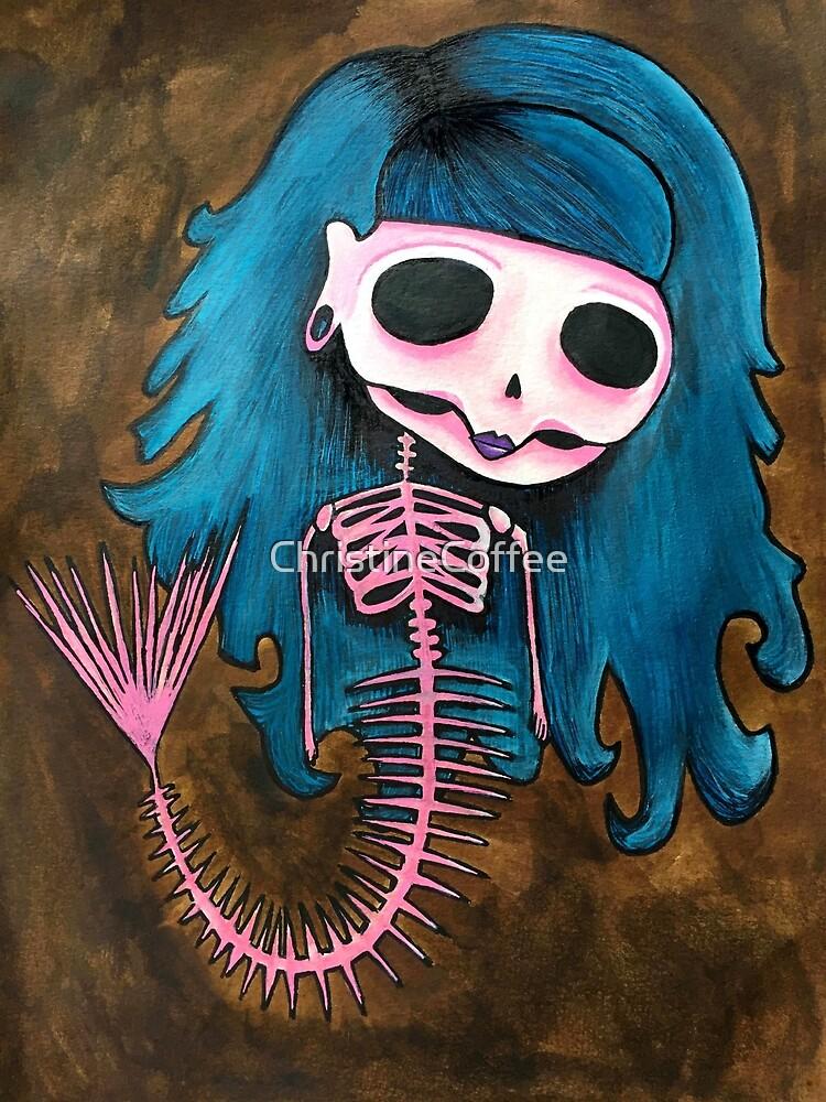 Skeleton Mermaid by ChristineCoffee