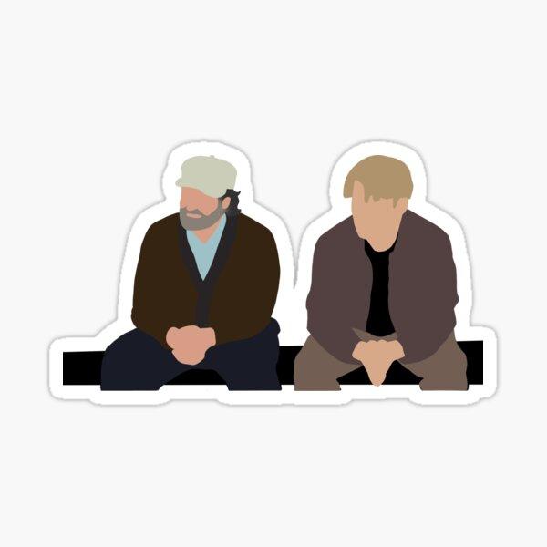 Good Will Hunting Park Bench Scene Sticker