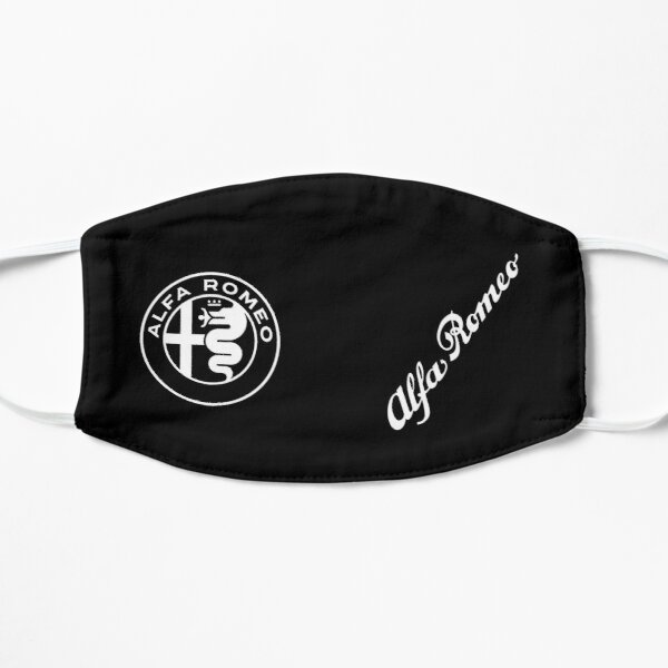 Alfa 2015 Badge & Script-White/Black Flat Mask