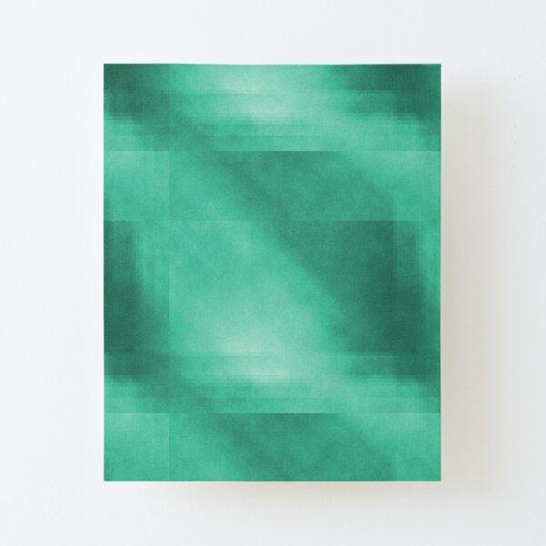 Mint plaid pattern Canvas Mounted Print