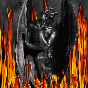 LUCIFER FALLEN ANGEL IN FLAMES (DEVIL) by Rapture777